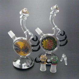 Wholesale Brand New Colored Glass Water Bongs Recycler Oil Rig Water Pipes cm Height Unique Design Percolator Bong Glass Hookahs mm male joint