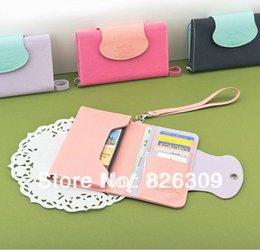 Wholesale Ardium multi function large capacity smartphone wrist strap mobile phone bags card package