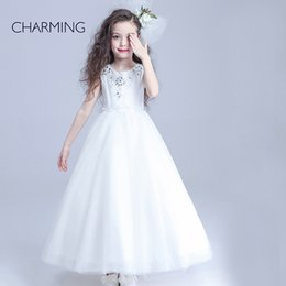 Wholesale girls gowns flower girl long dresses simple flower girl dresses high quality china products for resale girls gowns
