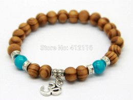 Wholesale 2014 New Products Best Quality mm Beaded Wood Beads Fatima Hand Hamsa Bracelets New OM Yoga Jewelry