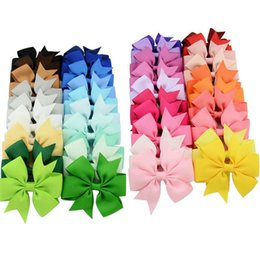 Wholesale 40 Colors Hair Bows Hair Pin for Kids Girls Children Hair Accessories Baby Hairbows Girl Hair Bows with Clips Flower Hairclip Hair Clip F564