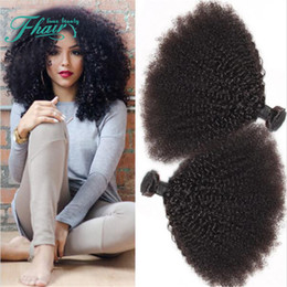Hot Selling Afro Kinky Curly Hair Weaves 3 Bundles Unprocossed Brazilian Virgin Hair Extension 10-30 Inch 3Pcs For Black Woman