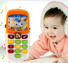 Wholesale Baby kids Electronic Phone Toy Mobile Phone Cellphone Telephone Educational Toys Electronic Toys Toy Phone for Christmas Gift