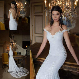Free Shipping Berta Vintage Lace Wedding Dress New Arrival Backless Haute Couture Dream Bridal Party Gowns Vestido de noiva