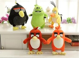 Wholesale Manufacturers selling the new angry birds two generation doll plush toys customized doll machine catch stall