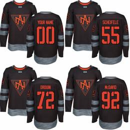 Wholesale Custom Men s Mark Scheifele Jonathan Drouin Connor McDavid world cup of North America hockey olympics game jersey