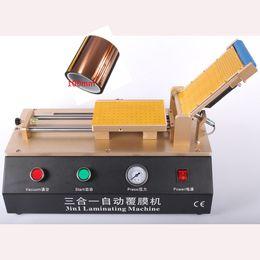Wholesale 3in1 Automatic OCA Film Laminating Machine Built in Vacuum Pump Air Compressor For LCD Touch Screen Laminator Repair Free Tape