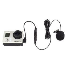 2017 usb gopro Mini cámara estéreo USB micrófono micrófono profesional para GoPro Hero 3 + 4 de marzo de usb gopro oferta