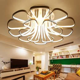 Wholesale Ceiling lights W W W led modern style artistic pendant light fixture for living room led ceiling lights metal Acrylic CE ROHS