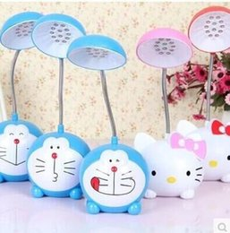 LED night light Hello Kitty Doraemon night lamp Children learn cartoon cute creative lamp charging LED cartoon night light for baay bedroom