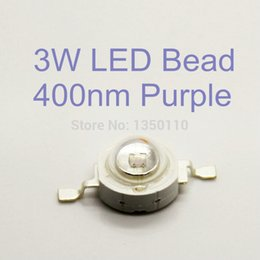 Wholesale 395 nm mil W UV Purple LED Light Plant Grow Light Lamp Bulbs Bead Chip for Flowering Plant Hydroponics System Acquarium