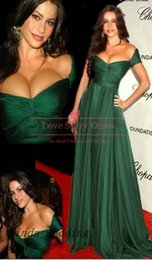 Free Shipping 2019 Maria Lucia Red Carpet Dark Green Evening Dresses Floor Length Formal Chiffon Special Long Evening Gowns