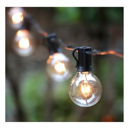 Wholesale 25 feet G40 Global bulb string lights UL listed indoor outdoor commercial decoration black