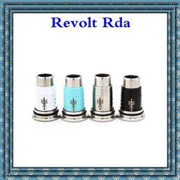 Double filament en Ligne-Revolt rda Atomiseur Evaporateur Remplaçable 3.0ml 22mm 304Acier inoxydable Bricolage RDA Filament atomiseur 510 fils Capacité double bobine unique DHL