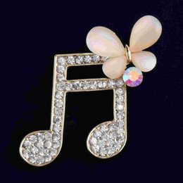 2016 Fahion Opal Notes Brooch Shawl Pins Lady Coat Daimond&Rhinestone Brooches Pins High-grade Butterfly Brooch for Women Hot Selling