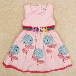 Girls Dresses New Style Sleeveless Dress High Quality Girls Embroidered Princess Dresses Girl Baby Dress Size 2Y-6Y Skirt 2016 New Arrival