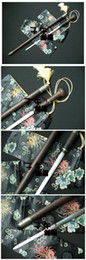 Wholesale Top Handmade Walking Cane Stick Sword High Carbon Steel Blade Rosewood Sheath