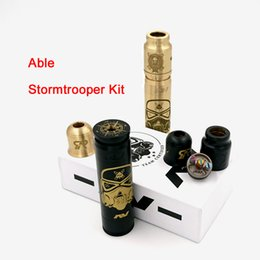 Wholesale Able Stormtrooper Kit Come with Able Stormtrooper Mod Battle RDA and Time Cap fit 18650 battery AV Able V3 DHL Free TZ700
