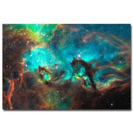 "Wholesale Cloth Printing Designs - Outer Space Galaxy Stars Nebula Art Silk Poster Print 24x36"""