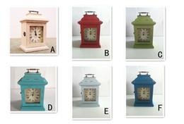 Cajas de madera relojes en Línea-Continental retro de madera Inicio Productos organizador del almacenaje de las misceláneas Medicina Estética Claves Box / Case / Pot / florero / Bins / contenedor con el reloj