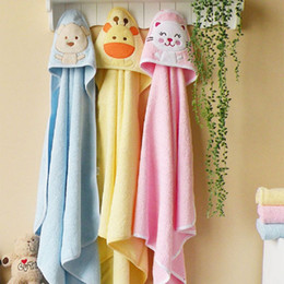 Wholesale 60 cute animal shape baby hooded bathrobe towel baby cotton blankets neonatal hold to be Children kids infant bathing ZA0268