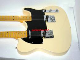 Guitare double goulots à vendre-Guitar Shop Crème personnalisée Double Neck électrique érable Touche livraison gratuite