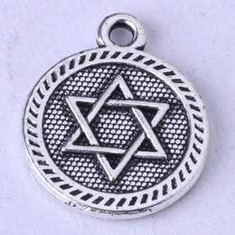 Star rround Pendant antique Silver bronze pendant fit Necklace DIY Jewelry Zinc alloy 300pcs lot 106z