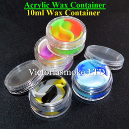 Wholesale Newest High Quality Acrylic silicone wax container silicone jar ml wax container wax Container for wax dab wax Silicone container for wax