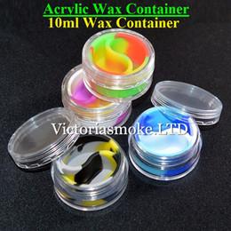 Newest High Quality Acrylic silicone wax container silicone jar 10ml wax container wax Container for wax dab wax Silicone container for wax