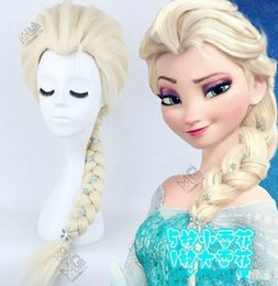 Halloween Hair Frozen wig New decorative 6 flowers Princess Frozen Snow Queen Elsa cosplay wig free shipping