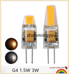 YON 10PCS G4 LED 12V AC DC COB Light 1.5W 3W High Quality LED G4 COB Lamp Bulb Chandelier Lamps Replace Halogen LED Light