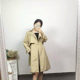 Wholesale 2016 The Lady New Fashion Simple Gracegul Suitable Waist Wind Coat Shoppe Quality