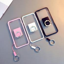 Promotion téléphones cellulaires concepteur Designer TPU Cell Phone cas métal Ring Mobile Phone Stand avec multi couleurs pour pour Iphone 7 7p 6S 5S 02
