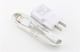 2 in 1 wall chargers kits EU US Home Wall Charger Adapter + Micro Usb Data Cable for Samsung Galaxy S4 S5 S6