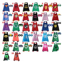 Wholesale Spiderman Masks For Kids Party - 70*70CM Double Side Kids Superhero Capes with Masks - Batman Spiderman Ninja Turtles Captain America for Kids' Halloween, Birthday Party
