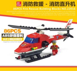 Wholesale Jay Star New Fire Truck Helicopter Firefighter Minifigure Building Blocks Bricks Toys Christmas gift birthday present