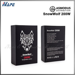 Wholesale Snowwolf W Box Mod Original Asmodus Distribution Snowwolf W Temperature Control VW Mode Ecigarette Mods VS IPV4 IPV4S