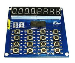 Wholesale 5PCS TM1638 Digital Bits LED Keyboard Scan And Display Module Digital Tube