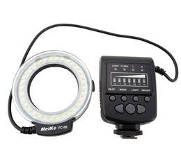 2017 meike flash de la cámara Meike MK-FC100 LED Macro Anillo de luz de flash con 7 Anillo adaptador para cámara digital meike flash de la cámara baratos