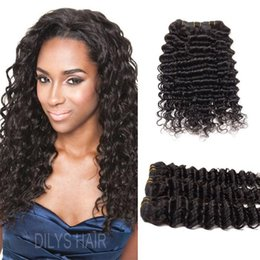 "7A Brazilian Hair Weaves Deep Curly Human Hair Wefts 8~30"" 300g Unprocessed Hair Bundles Malaysian Peruvian Mongolian Extensions"