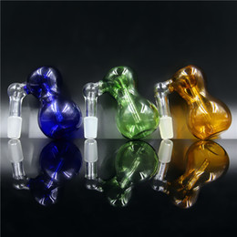 Wholesale KKDUCK Fashion Glass MM MM MALE JOINT SIZE Glass on Glass Ash Catcher Hookahs with Bubble Wrap Top Quality Hot Sale S3