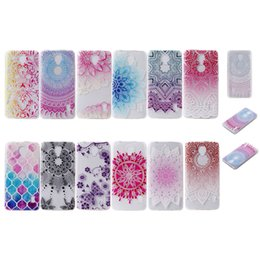 Wholesale Henna Paisley Flower Mandala Soft TPU Case For Huawei Y3 II Y5 II Y6 II Y6II X Y625 Y635 Colorful Square Cover Sunflower Gel Clear Skins