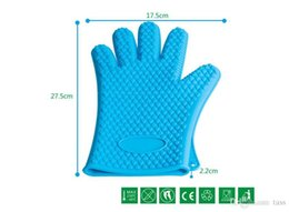 Best Price Silicone Kitchen Cooking Gloves Microwave Oven Non-slip Mitt Heat Resistant Silicone Home Gloves Cooking Baking BBQ gloves Holder