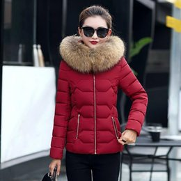 Wholesale-Winter women Down Jackets High Quality Women Warm Slim Large Fur Collar white duck down jacket Parkas Long Down Coats