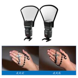 Wholesale Universal Flash Diffuser Softbox Silver White Reflector for Canon Nikon Pentax Yongnuo Speedlite D1265