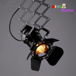 Wholesale Loft RH American industrial style bar celling lights clothing store aisle personality background wall lamp LED track light probe