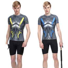 Wholesale Best quality men sports wear set shirt shorts out door wear Tights fitness jersey running jersey color