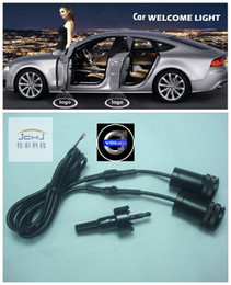 Wholesale For volvo LED Car door welcome light courtesy led car laser projector Logo Ghost Shadow Light For volvo logo light