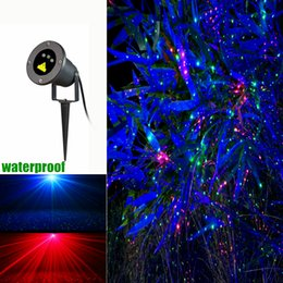 Wholesale Outdoor LED Projector laser lights Red Green Blue Firefly christmas laser light projector for garden AC V remote controller