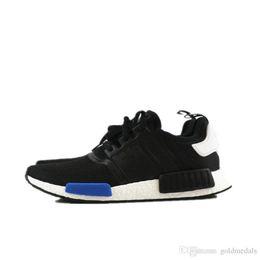 Wholesale Cheap NMD Runner R1 Primeknit Nice Kicks Circa Knit Black Men Women Running Shoes Sneakers Classic Super Star Casual Shoes
